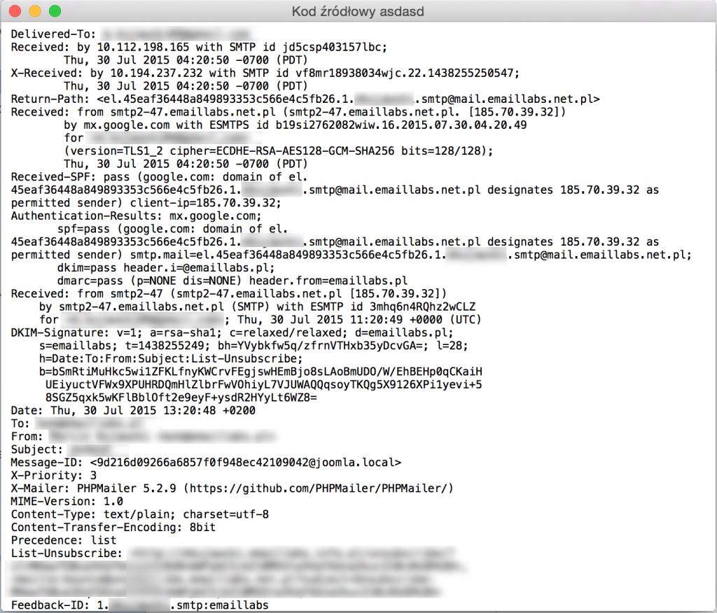 Joomla! - podmiana SMTP