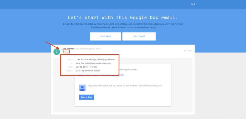 Sprawdź, czy umiesz rozpoznać phishing.<br>Quiz od Google</br>