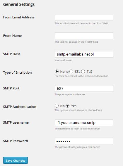 Cloud SMTP dla WordPress – szybka integracja z EmailLabs