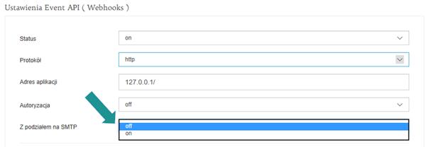 Podział Webhooks na konta SMTP