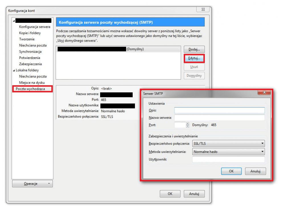 Thunderbird i Outlook – skonfiguruj poprawnie SMTP!