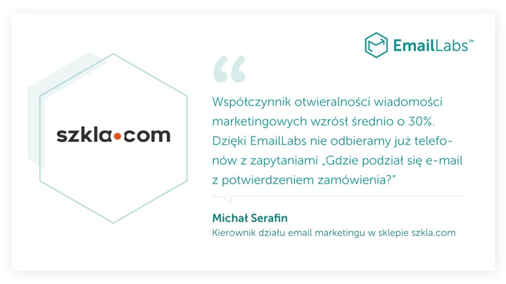 Wywiad – Najbardziej świadomi klienci EmailLabs: szkla.com
