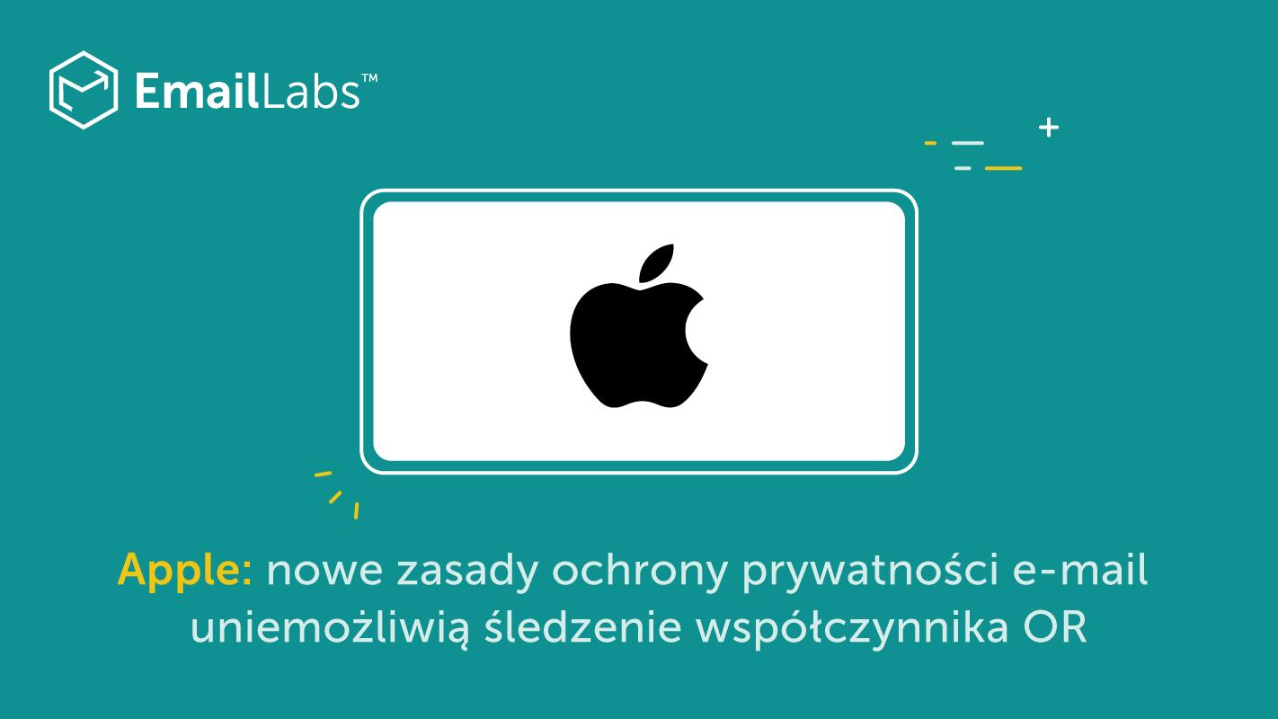 Apple OR: nowe zasady ochrony prywatności e-mail uniemożliwią śledzenie współczynnika OR