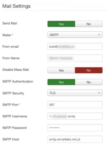 Serwer SMTP dla Joomla! – Integracja z SMTP EmailLabs